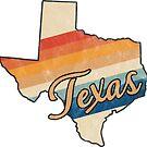Texas State | Colorful Retro 70s Design von PraiseQuotes