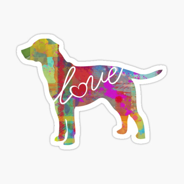Labrador / Lab Love - A Bright and Colorful Watercolor Style Gift Sticker