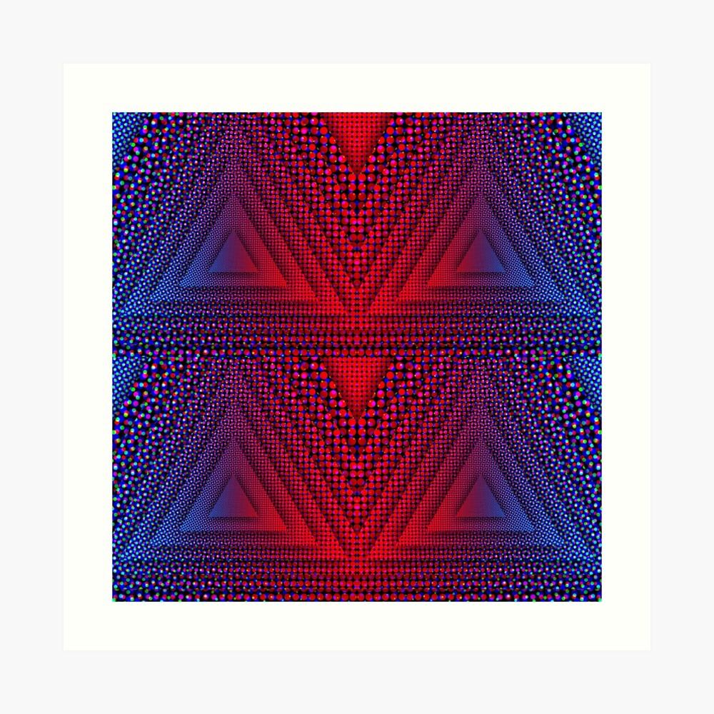 Red-B Chromatic Quad Triforce Art Print