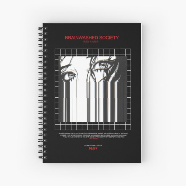 BRAINWASHED SOCIETY Spiral Notebook