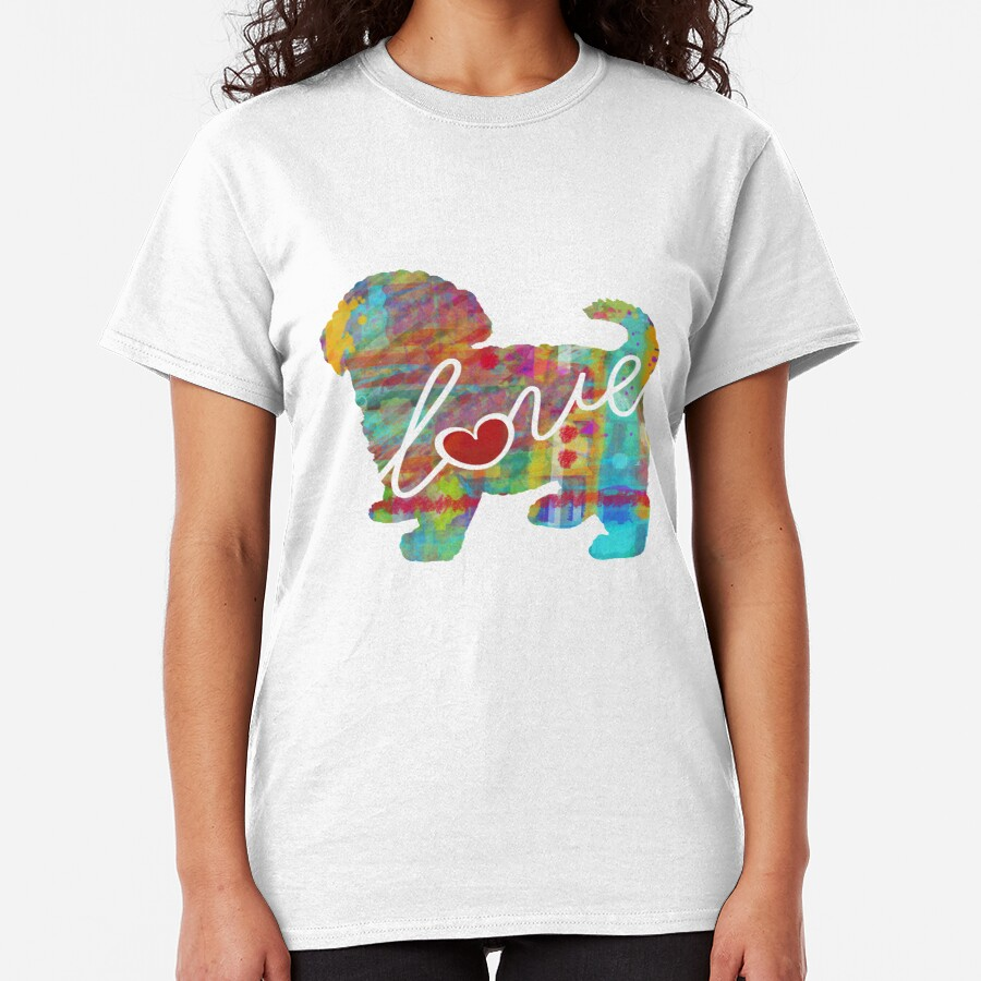 Maltipoo - Maltese / Poodle Love - A Bright and Colorful Watercolor Style Gift Classic T-Shirt