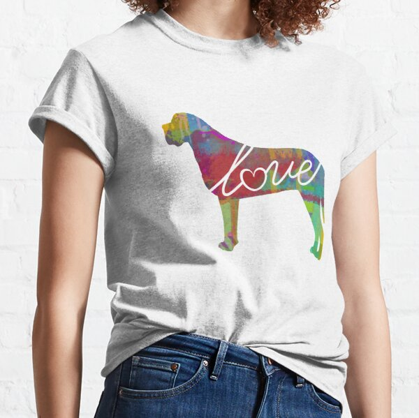 English Mastiff Love - A Bright and Colorful Watercolor Style Gift Classic T-Shirt