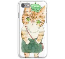 Painter kitty iPhone Case/Skin