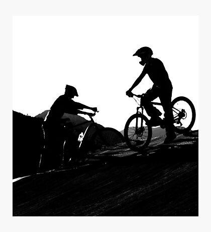 At the Bike Park Photographic Print