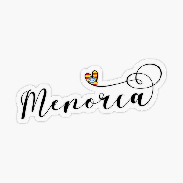 Menorca Flag Heart, Balearen Transparenter Sticker