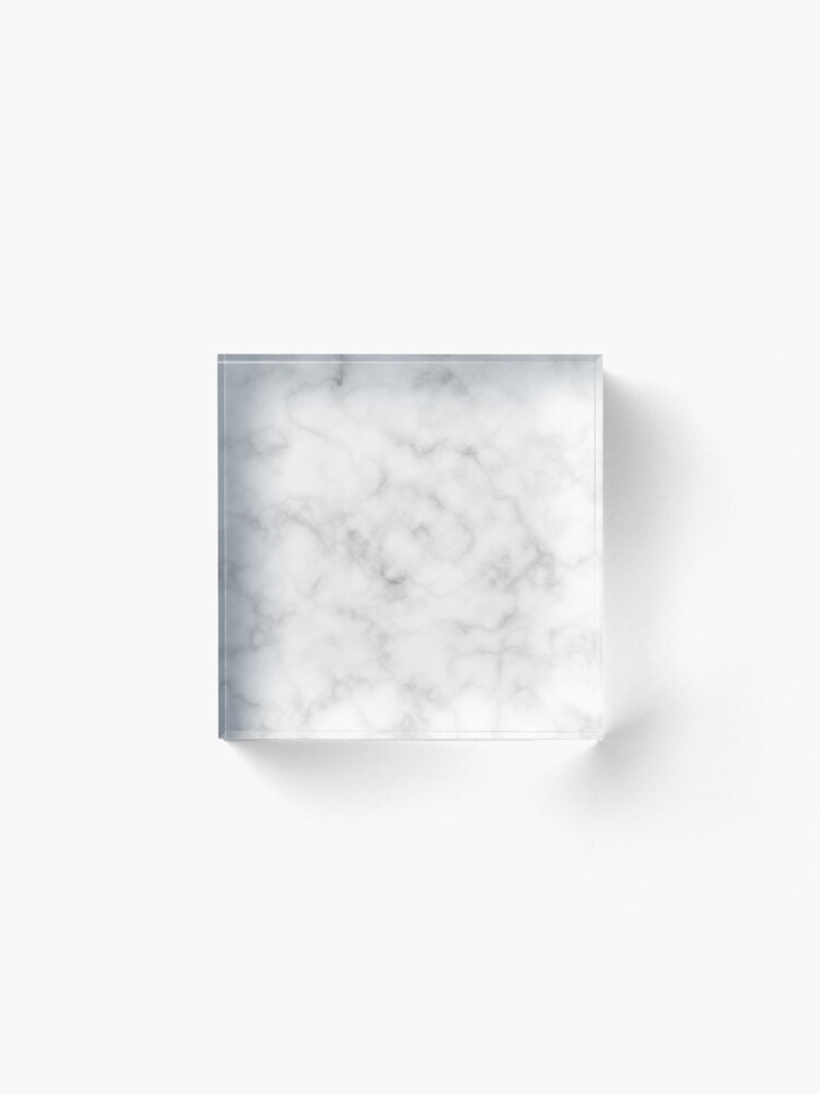 Alternate view of Light Grey Marble Acrylic Block