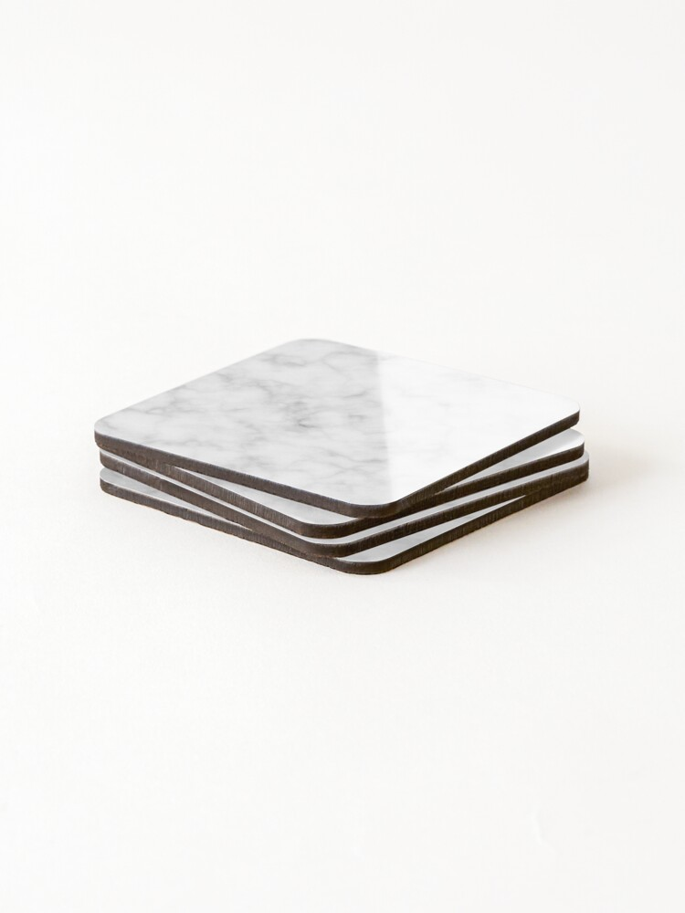 Alternate view of Light Grey Marble Coasters (Set of 4)