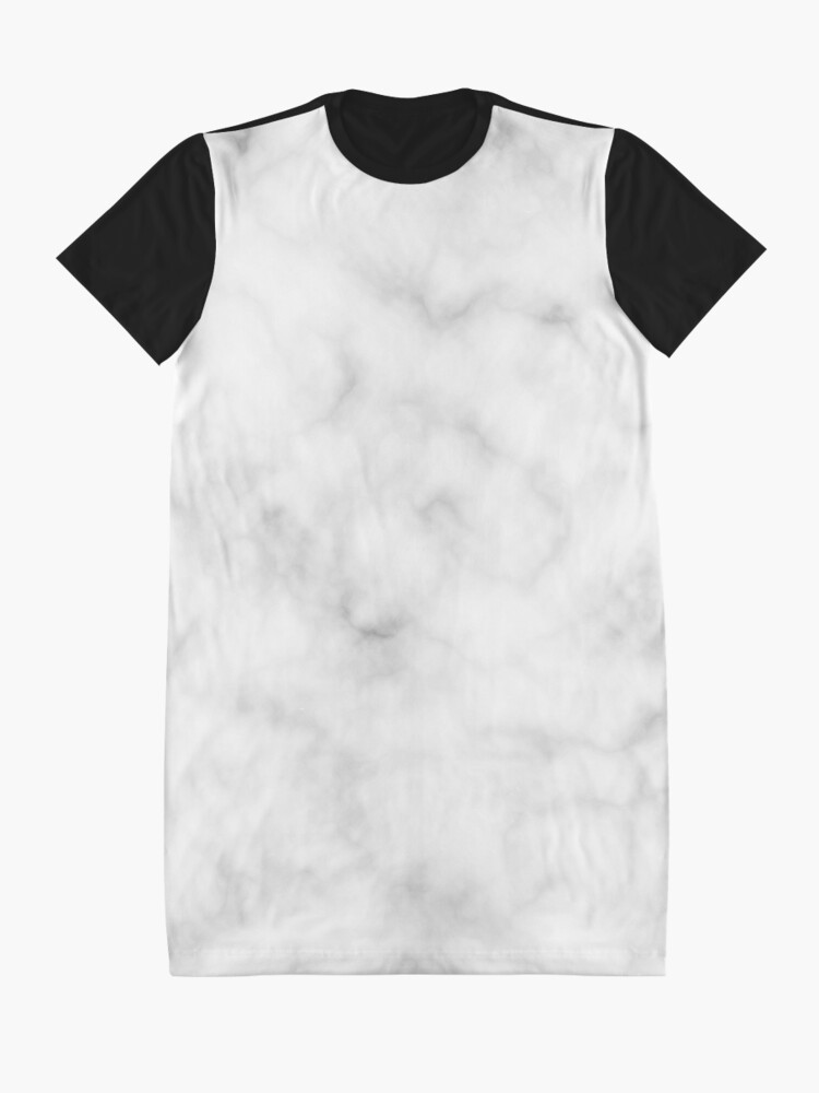 Alternate view of Light Grey Marble Graphic T-Shirt Dress