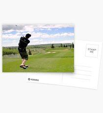 Golf Swing L Postcards