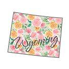 Wyoming State | Floral Design with Roses von PraiseQuotes