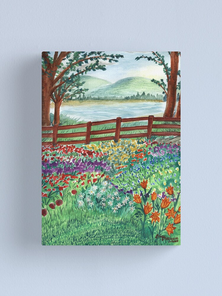 Alternate view of Flora Landscape Canvas Print