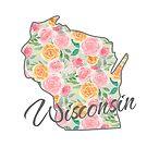 Wisconsin State | Floral Design with Roses von PraiseQuotes