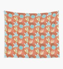 Terra-cotta Cactus Wall Tapestry