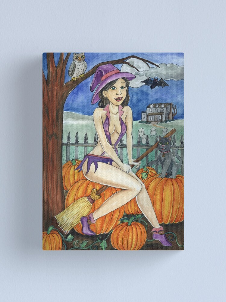 Alternate view of Wicked Witch Canvas Print