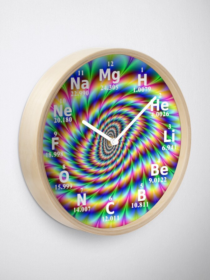 Alternate view of #Chemical #Elements #Wall #Clock Clock