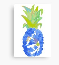 Pineapple Blues Canvas Print
