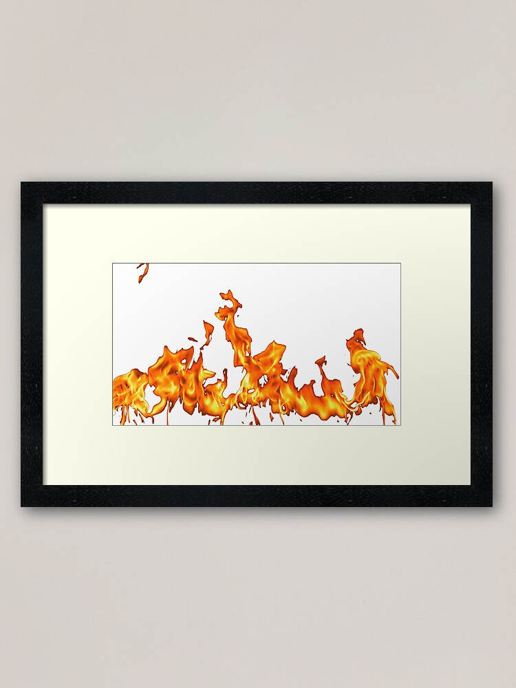 Alternate view of #Flame, #Forks of flame, #Spurts of flame, #fire, light, flames Framed Art Print