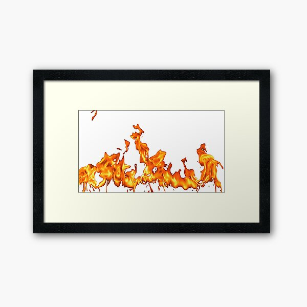 #Flame, #Forks of flame, #Spurts of flame, #fire, light, flames Framed Art Print
