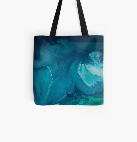 Dark peinture abstraite Tote bag doublé