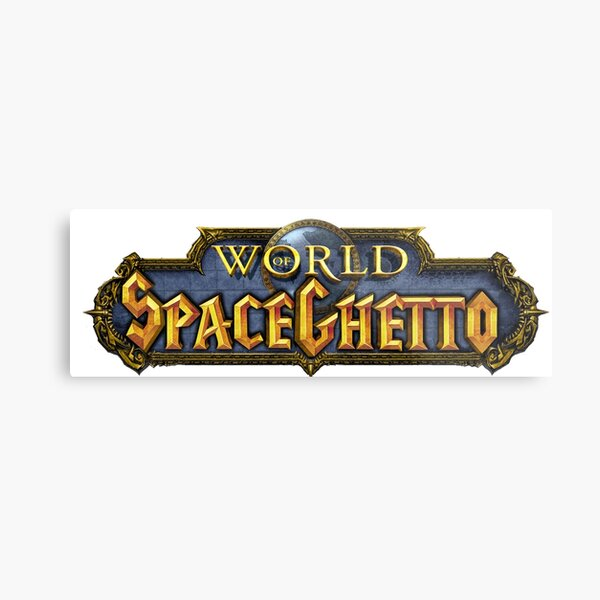 World of SpaceGhetto Metal Print