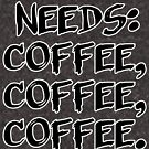 Needs: coffee, coffee, coffee. by raineofiris