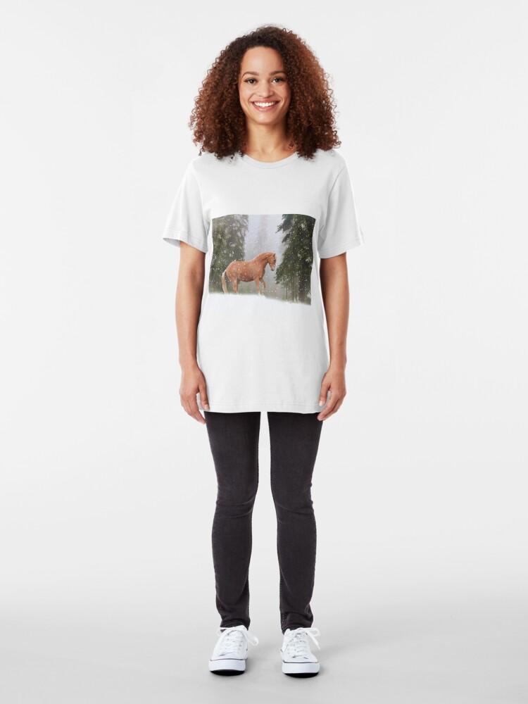 Alternative Ansicht von Weihnachtspferd Slim Fit T-Shirt