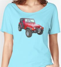 Red Jeep Wrangler Rubicon 4x4 Women's Relaxed Fit T-Shirt