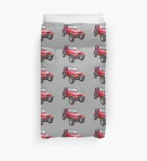 Red Jeep Wrangler Rubicon 4x4 Duvet Cover