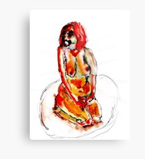Clown Girl Metal Print