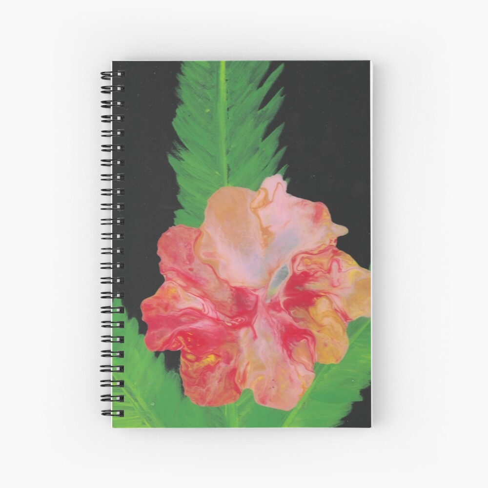 Pour Hibiscus Spiral Notebook