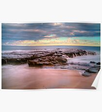 Garrie  beach rocks Poster