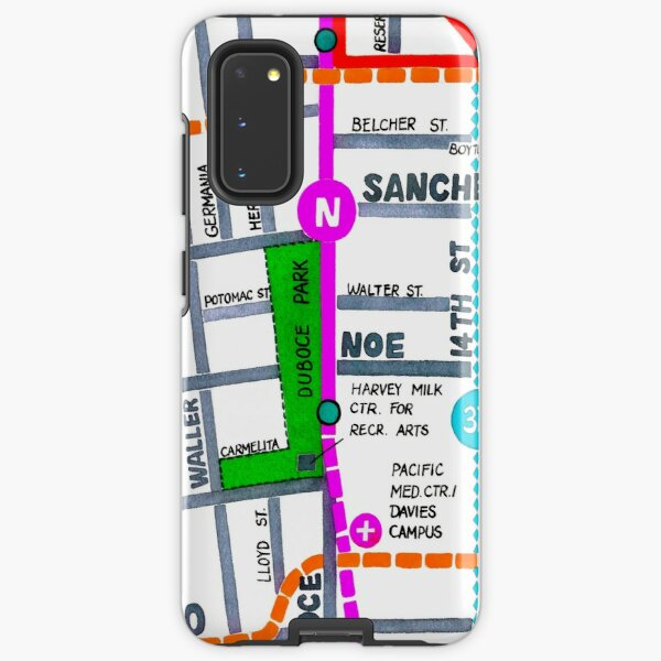 San Francisco map - Duboce Park Samsung Galaxy Tough Case