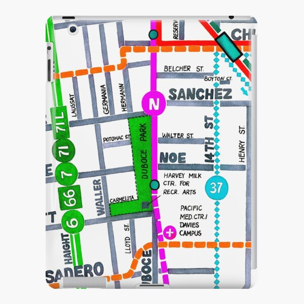 San Francisco map - Duboce Park iPad Snap Case