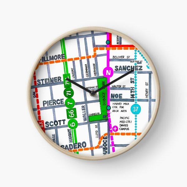 San Francisco map - Duboce Park Clock