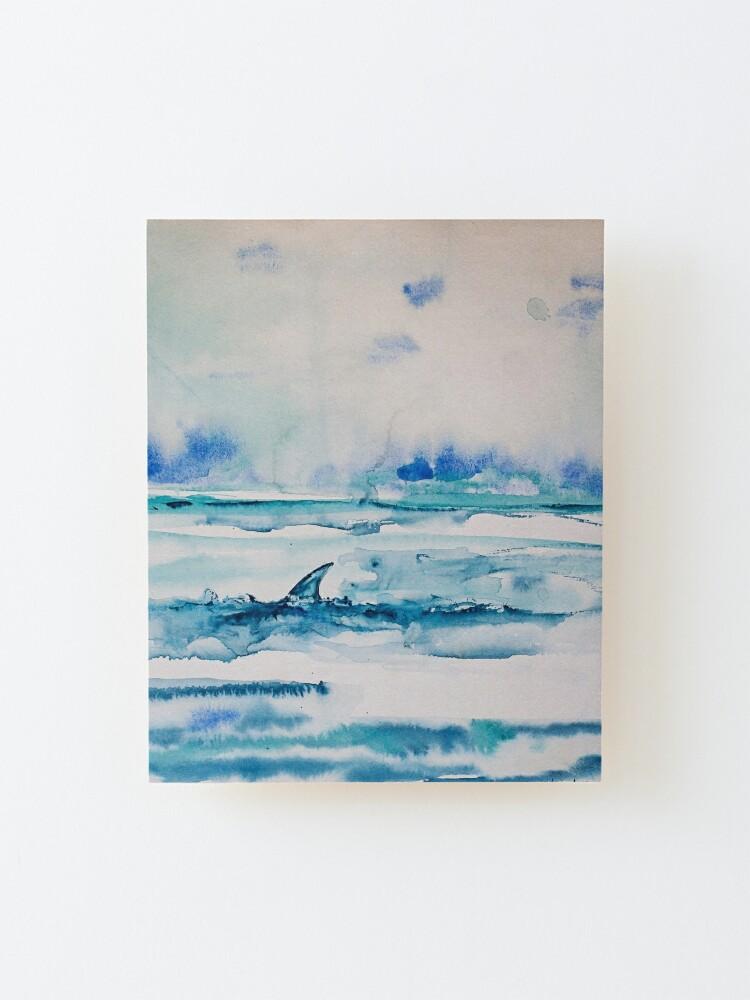 Alternate view of Shark fin  Mounted Print