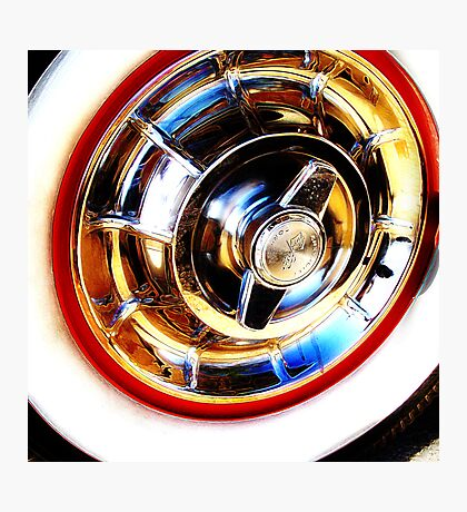 corvette hubcap Photographic Print