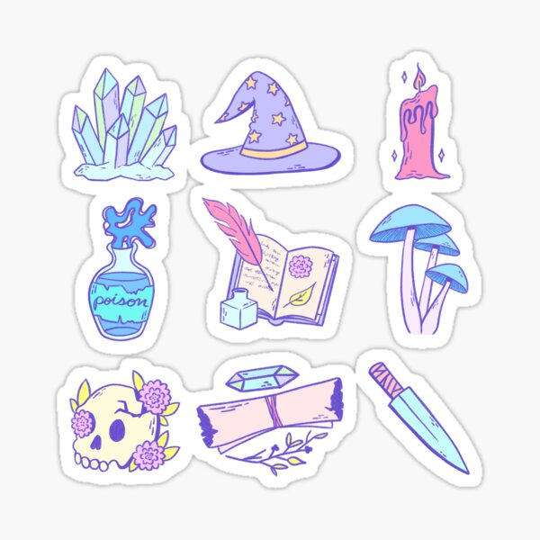 Magical Items (Pastel) Sticker