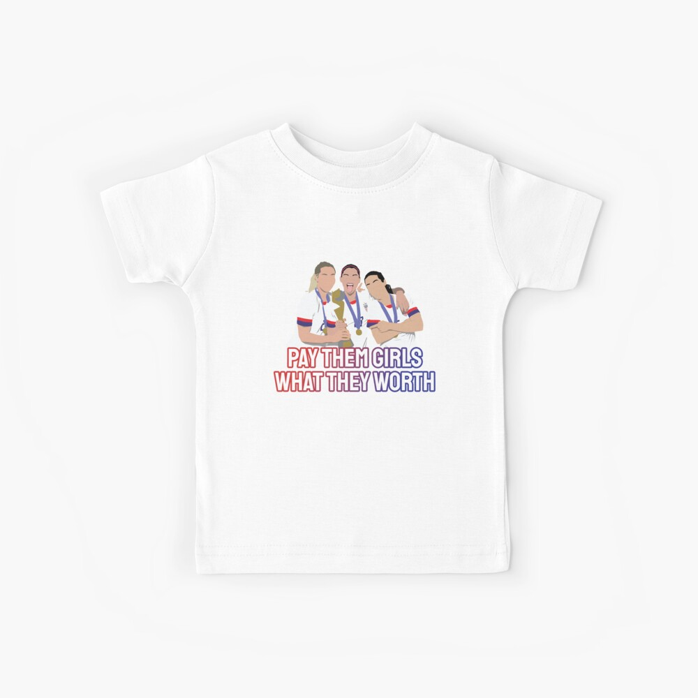 USWNT Pay Them Girls, was sie wert sind Kinder T-Shirt
