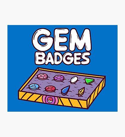 Gem Badges Photographic Print