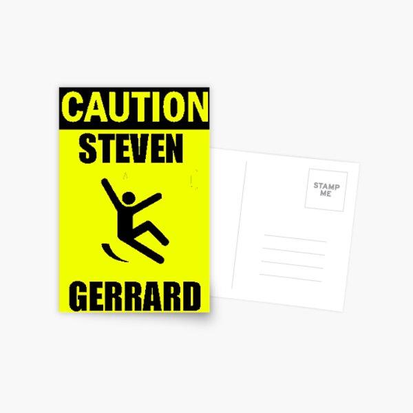 Caution: Steven Gerrard Postcard
