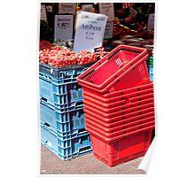Aardbeien Crates Poster