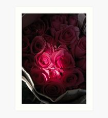 Roses To Go Art Print