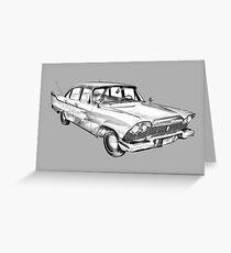 1958 Plymouth Savoy Classic Car Illustration Greeting Card