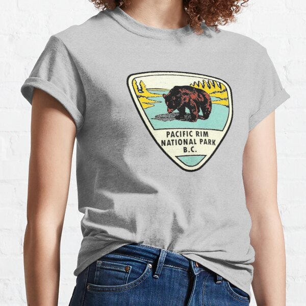 Pacific Rim National Park BC Canada Vintage Travel Decal Classic T-Shirt