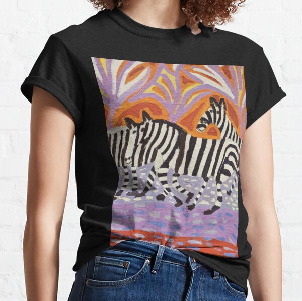 Zebras artwork Zion Levy Stewart Zionart Classic T-Shirt
