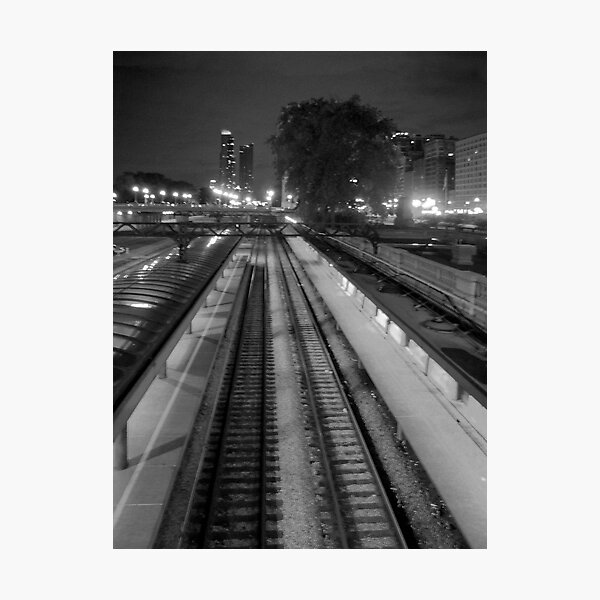 Commuter Line Platform Photographic Print