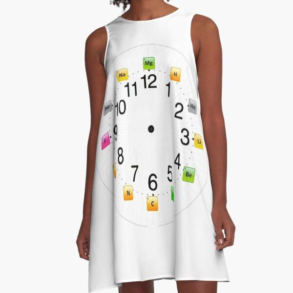 Chemical Elements Wall Clock A-Line Dress