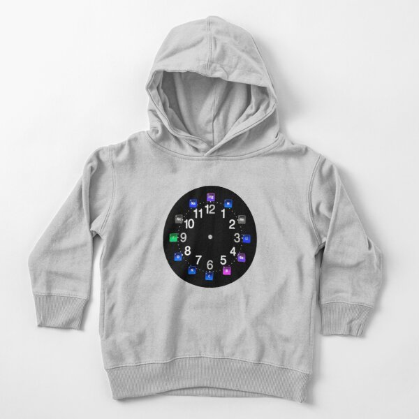 #Chemical #Elements Wall #Clock Toddler Pullover Hoodie