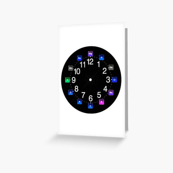 #Chemical #Elements Wall #Clock Greeting Card