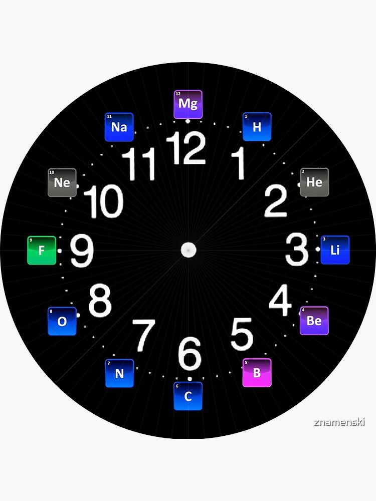 #Chemical #Elements Wall #Clock by znamenski